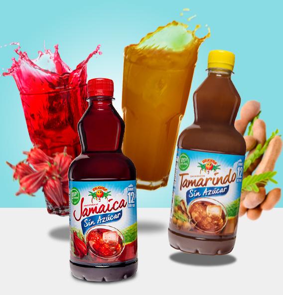 Jamaica y Tamarindo sin azúcar