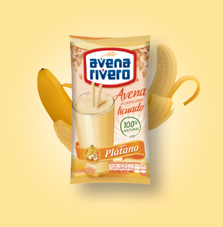 Avena Rivero sabor plátano